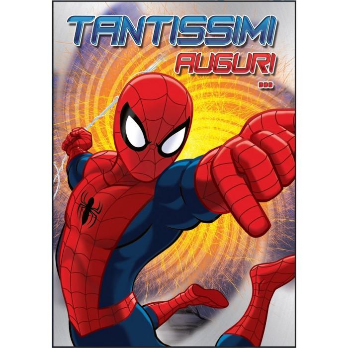 Biglietto augurale compleanno 11 7x16 8 spiderman marpimar for Spiderman da stampare gratis