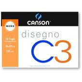 ALBUM DISEGNO NERO 24X33 10 FF. 150 GR. CANSON