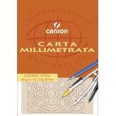 CARTA MILLIMETRATA A4 gr.80 BLOCCO 10 ff. CANSON