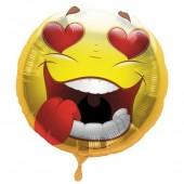 PALLONCINO IN MYLAR Emoticon CM.45 Crazy Love