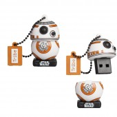CHIAVETTA USB 16 GB STAR WARS THE LAST JEDI BB-8 MAIKII