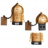 CHIAVETTA USB 16 GB STAR WARS THE LAST JEDI R2D2 GOLD MAIKII