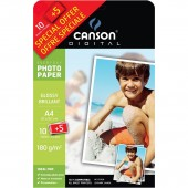 CARTA FOTOGRAFICA EVERYDAY A4 BRILLANTE 180 GR. CONF. 10+5 FOGLI DIGITAL CANSON