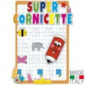 ALBUM DELLE CORNICETTE DA COMPLETARE CON QUADRETTI 1 CM