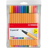 FINELINER POINT 88 SET 10 5 PZ. NEON STABILO