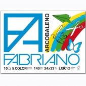 ALBUM DISEGNO A PUNTI METALLICI ARCOBALENO 140 GR. 24X33 10 FG LISCIO FABRIANO