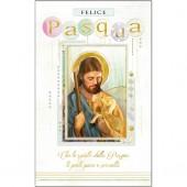 BIGLIETTO AUGURALE PASQUA 8,5X13,5 RELIGIOSO KARTOS