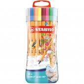 FINELINER STABILO POINT 88 SLEEVE PACK 30 PZ. STABILO