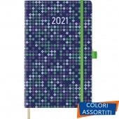 AGENDA SETTIMANALE CON NOTE 13X21 CHIUSURA ELASTICO TIE 2021 CANGINI FILIPPI