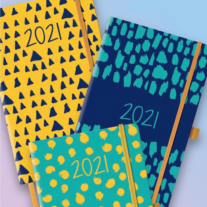 Agenda Settimanale Con Note 13x21 Chiusura Elastico Abstract 2021 Cangini Filippi Cartamea