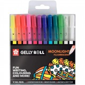 PENNA SFERA GEL GELLY ROLL MOONLIGHT COSMOS SET 12 COLORI SAKURA