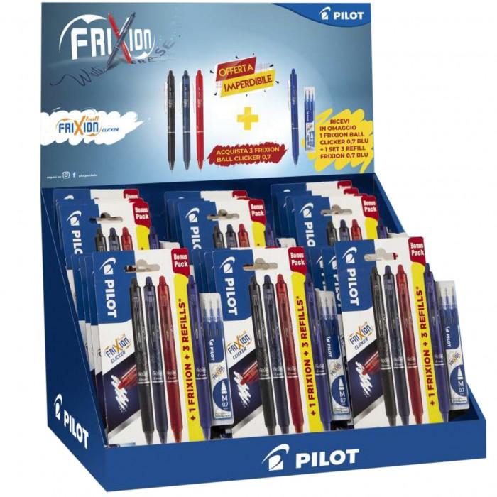FRIXION penna PILOT  cancellabile PILOT FRIXION 1BLU-1 ROSSA 1VERDE 0,7 3PZ