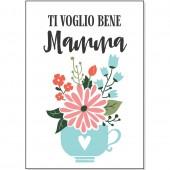 BIGLIETTO AUGURALE MAMMA 11,8X16,8 GLITTER IRIDESCENTE MARPIMAR