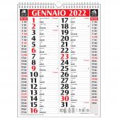 CALENDARIO OLANDESE MENSILE 28,8X39 CLASSIC ROSSO/NERO 2022